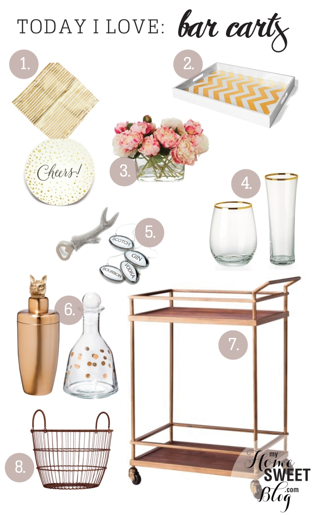 bar cart inspiration | home sweet blog