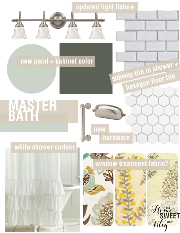 master bath design board | home sweet blog