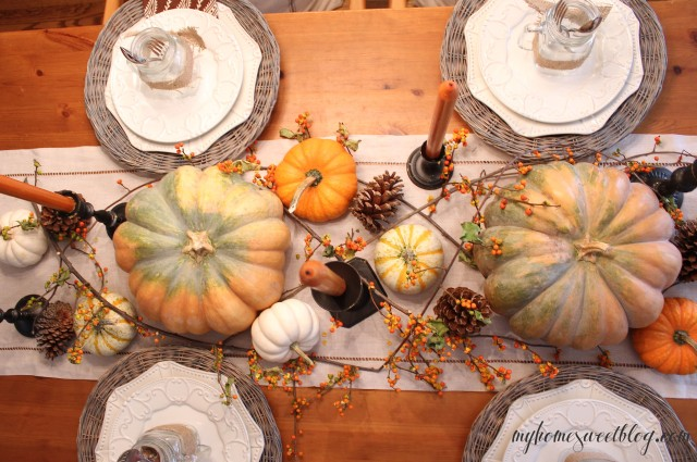 fall centerpiece 2 | home sweet blog