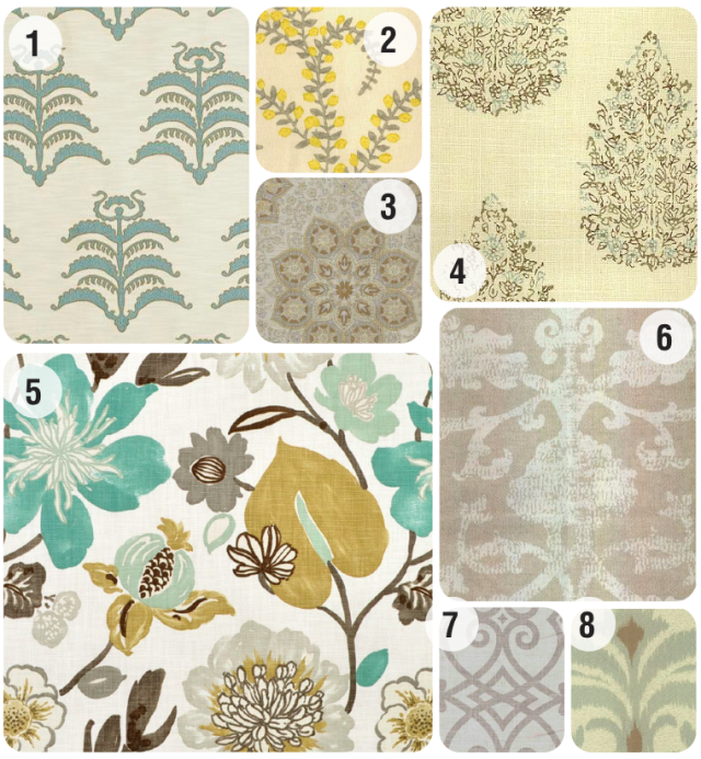 master bath fabric | home sweet blog
