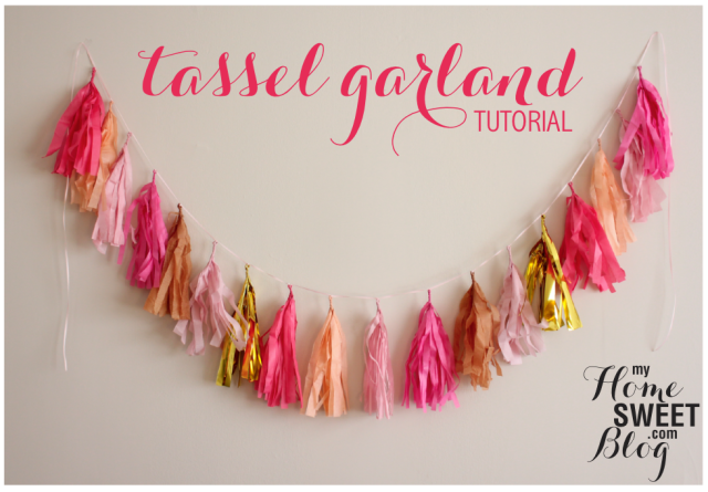 tassel garland tutorial | home sweet blog