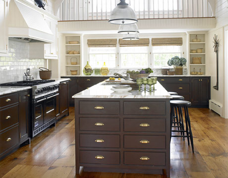 brass kitchen cabinet hardware | home sweet blog