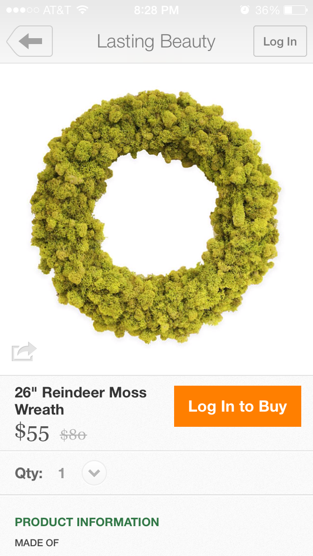 OKL reindeer moss wreath | home sweet blog