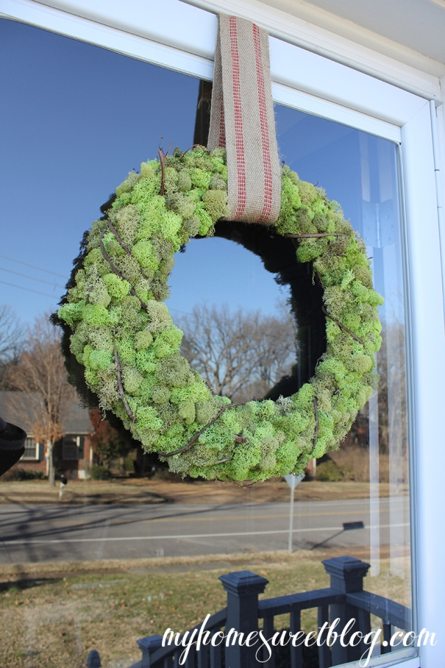 reindeer moss wreath 4 | home sweet blog