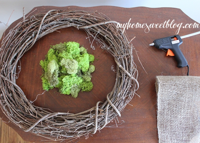 reindeer moss wreath | home sweet blog