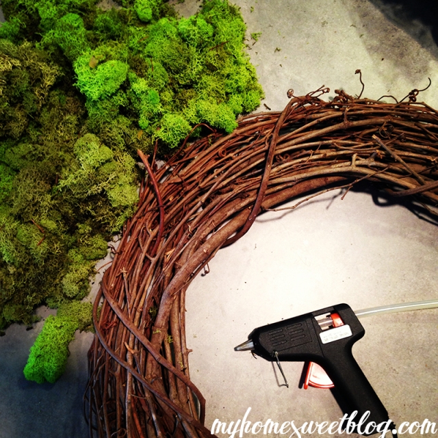 reindeer moss wreath instagram | home sweet blog