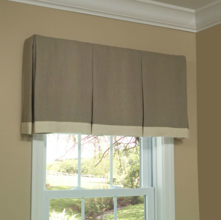 box pleat valance | home sweet blog