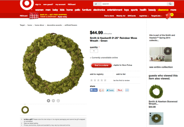 Target wreath | home sweet blog