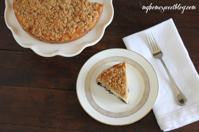 blueberry crumb cake 1 | home sweet blog