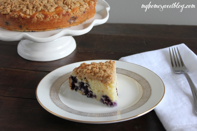 blueberry crumb cake 2 | home sweet blog