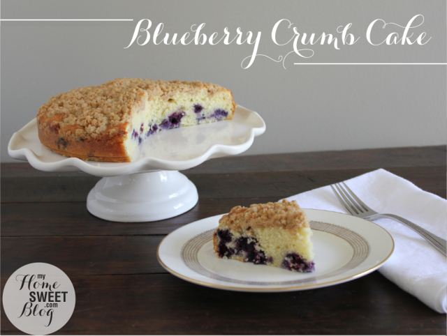 Blueberry Crumb Cake | home sweet blog