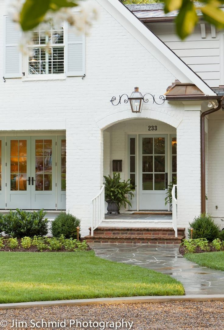 Painted brick home sweet blog White painted brick exterior