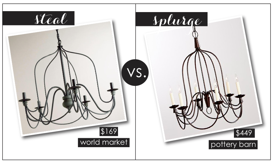 World market steals home sweet blog for Rustic wire chandelier
